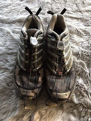 SALOMON RED AND Gray GCS Boonies Pro Trail Running Shoes
