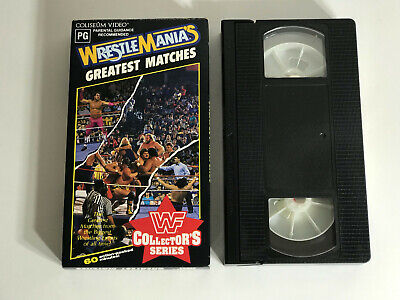 Wwf Wrestlemania Greatest Matches Ws902  Vhs Coliseum Video Rare Wwe Hulk Hogan