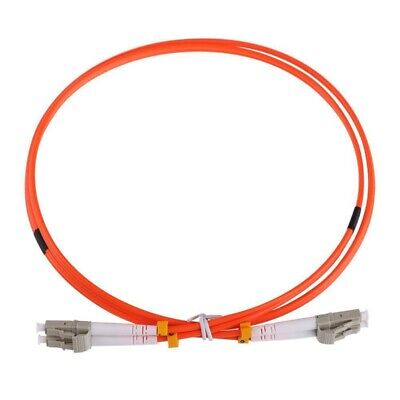 1M Jumper Cable Duplex Multimode LC-LC LC To LC Fiber Optic Optical Patch C Z7V2