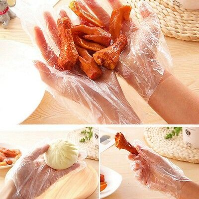 500PCS Plastic Disposable Gloves Restaurant Home Service Catering Hygiene Gift