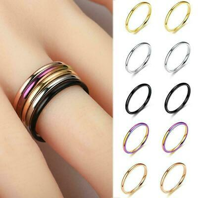 Glossy Mirror Polished Rose Gold IP Dome Surgical Stainless Supp Band Steel D8P3
