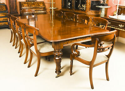 Antique William IV  Mahogany Dining Table C1830 & 10 Chairs  19th C