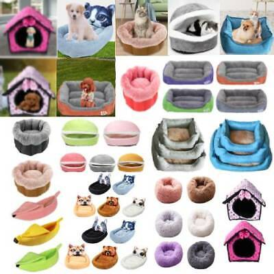 Pet Cat Dog Bed Puppy Cushion Soft Warm House Kennel Mat Blanket Washable Pad