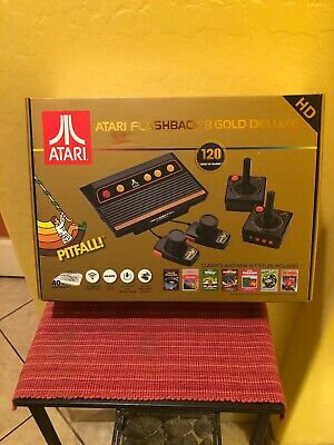 Atari Flashback 8 Deluxe Gold Black Console - 120 Games. Sealed.