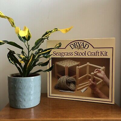 DRYAD DIY Craft Seagrass Stool Making Kit Seat Weaving Wicker Rattan Vintage