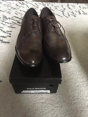 IKF1 Mens Ikon Russell Contrast Sole Brogue Brown Shoes