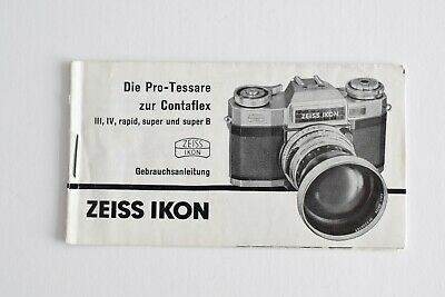 ZEISS IKON CONTAFLEX - 3x Pocket Brochures