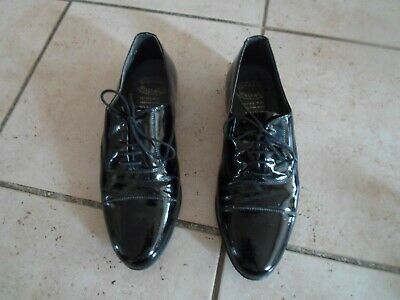 Rombah Wallace Mens Boys Dance/ Formal  shoes size 7 1/2 Leather Upper & Sole UK