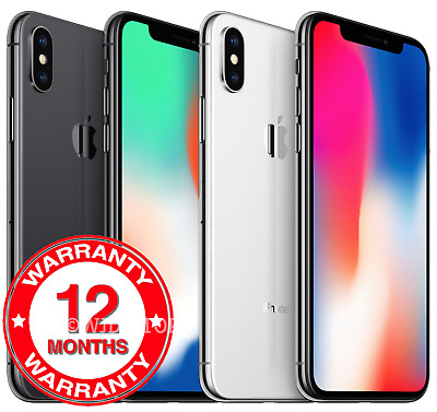 Apple iPhone X - 64GB 256GB - Unlocked SIM Free Smartphone All Colours Grades