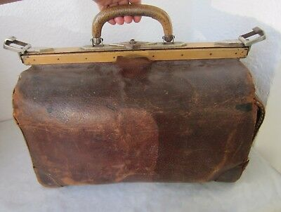 Early antique Medical Doctor Bag Leather, rare