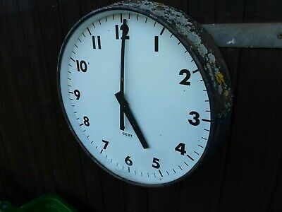 Large Vintage Factory Wall Clock