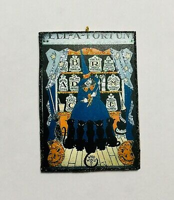 HALLOWEEN WITCH'S BREW PANTRY GLITTER Greeting Card ORNAMENT