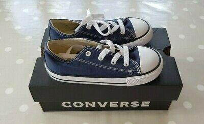 Kids Converse All Star Trainers, Navy Blue, Size UK 10, EUR 26, BNIB