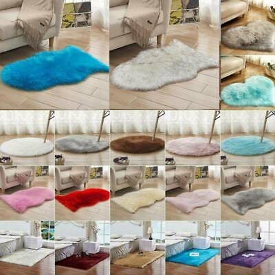 Anti-Skid Washable Fluffy Rug Shaggy Rugs Carpets Bedroom Living Room Floor Mats