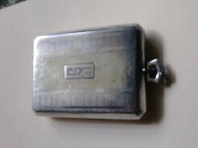 Sterling silver compact large pendant with mirror and lipstick holder and powder