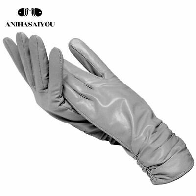 Women Fashion Gloves Ladies Long Genuine Leather Luxury Gloves