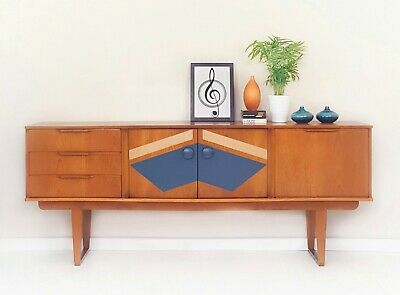 Retro vintage 1960's danish teak sideboard, mid century cabinet, retro tv unit