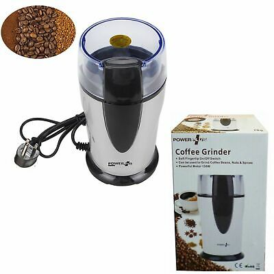 1x New Electric Whole Coffee Grinder Nuts Beans Spices Grinder xmas Uk Herbs tea