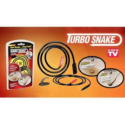 Turbo Snake 2pc Chemical Free Drain Hair Clog Remover  (FREE SHIPPING)