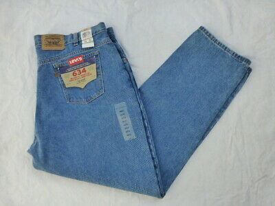 NWT MENS VINTAGE LEVIS ORANGE TAB 634 RELAXED FIT JEANS 50634-0212 SIZE 44x32