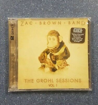 Grohl Sessions Volume 1 - Cd & Dvd - Zac Brown Band - Rare Cd & Dvd