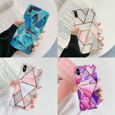 Geometric Marble Case Soft Pastel Cover For iPhone 11 Pro MAX XS XR X 8 7 6 Plus