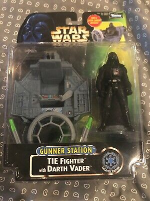 Kenner Star Wars Power of the force Gunner Station: Tie Fighter with Darth Vader