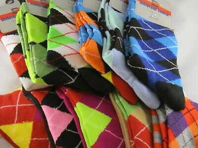 Argyle Casual Men's Socks - Variety of Colors to Choose From - Size 10 to 13