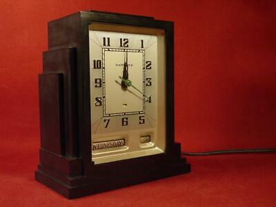 VINTAGE 1930s HAMMOND ART DECO SKYSCRAPER CLOCK DAY/DATE BAKELITE CASE WORKING