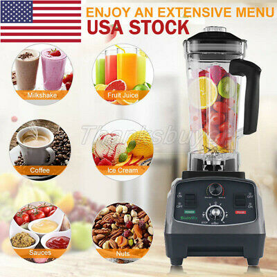 T5200 2L Heavy Duty Commercial Blender with Timer 2200W Fruit Variable Speeds US
