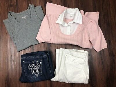 Maternity Shirt Top Pants Jeans Small Outfit Lot Career Workwear