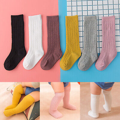 Infant Baby Girl Long Tube Boot Sock Knee High Cute Toddler Newborn Leg Warmers