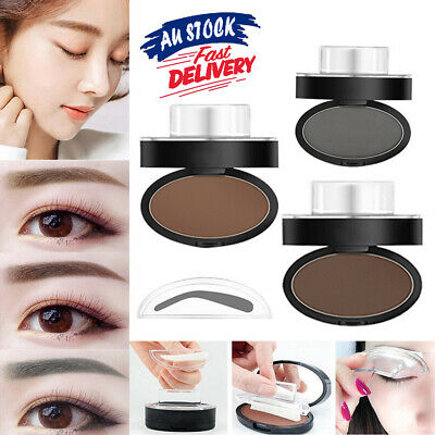EYEBROW STAMP Cosmetic S4 Powder Brow Natural Makeup Definition Brown Palette