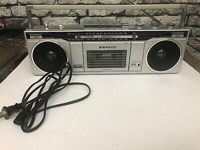 Sanyo M7000 Boombox Cassette Tape Radio Player Vintage Tested Works