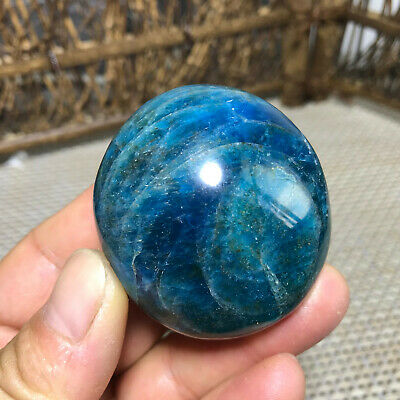 125g  Natural Polished Blue Apatite Gem Specimen Madagascar  4258