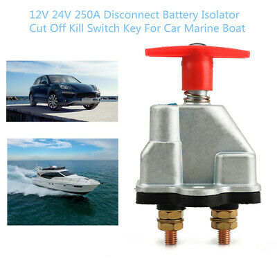 Disconnect Battery Isolator Cut Off Kill Switch w/ Key For Car Truck Marine Boat
