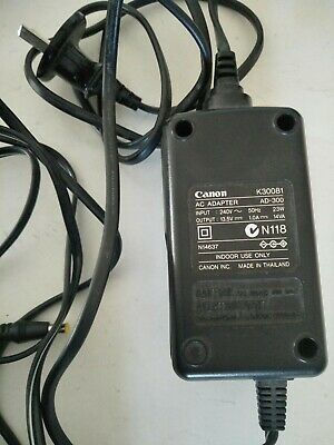 Canon K30081 AC adapter, suits Canon BJC-210 printer and matching plugs