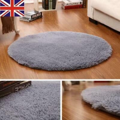 Soft Fluffy Round Rugs Anti-Skid Shaggy Area Rug Dining Room Carpet Floor Mat