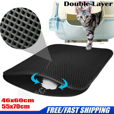 Pro Pet Large Double-layer Cat Litter Tray Mat Kitten Scatter Control Paw Floor