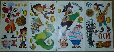 """JAKE and the NEVERLAND PIRATES wall stickers MURAL 17 decals parrot Disney 32/"""""""