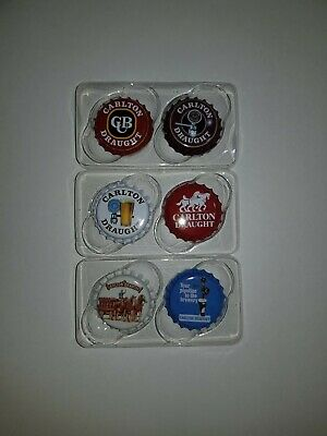 Carlton Draught Classic Collectables Fridge Magnets Set of 6