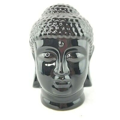 Buddha Head Zen Garden Yoga Meditation Black Thai Statue