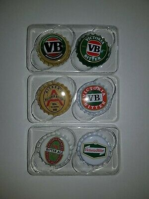 VB Classic Collectable Bottle Top Magnets X 6