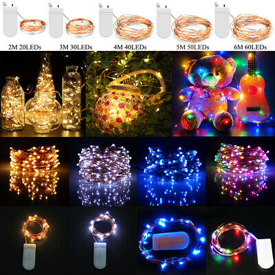 20/30/40/50/60 LED Battery Micro Rice Wire Copper Fairy String Lights Xmas Party