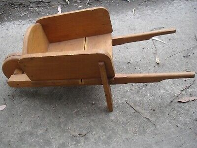 WOODEN SMALL WHEELBARROW -toy or decoration