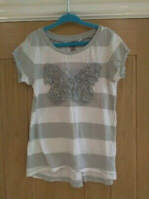 Girls Next T-Shirt size 6 Years Top Grey Butterfly Top Qty