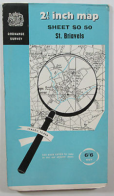 1959 Old Vintage OS Ordnance Survey 1:25000 First Series Map SO 50 St Briavels