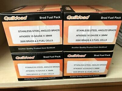 QUIKLOAD F16-38mm S/STEEL ANGLED BRAD PACK FOR PASLODE IM65A/IM250A 2ND FX TOOLS