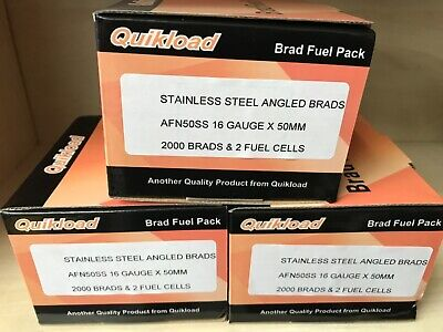 QUIKLOAD F16-50mm S/STEEL ANGLED BRAD PACK FOR PASLODE IM65A/IM250A 2ND FX TOOLS