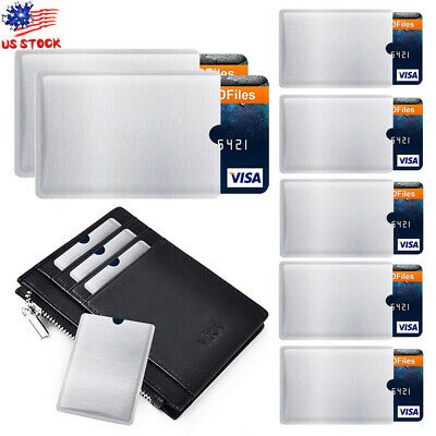4-20pcs RFID Blocking Sleeve Bags Credit Card Protector Bank Card Holder Wallets